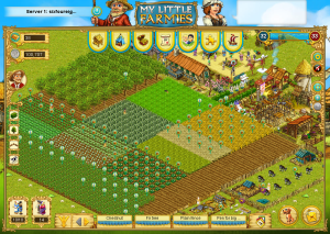Screenshot of my sixfoureight My Little Farmies farm.
