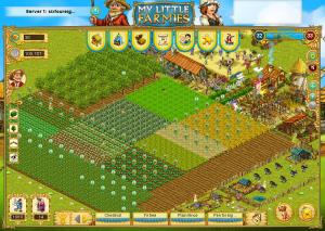 Screenshot of my sixfoureight My Little Farmies farm.